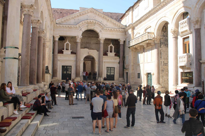 Peristyle Split People tourists on Split Walking Tour
